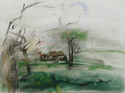 Isabelle Melchior - Trees and Village in Jacqueville, 2013