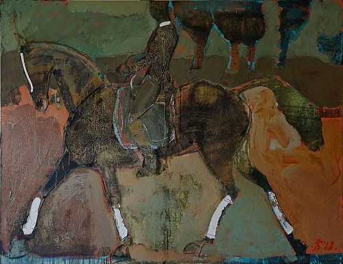 Exhibition: Serhiy Hai - New Paintings, Work: High Stepper with Rider, 2018