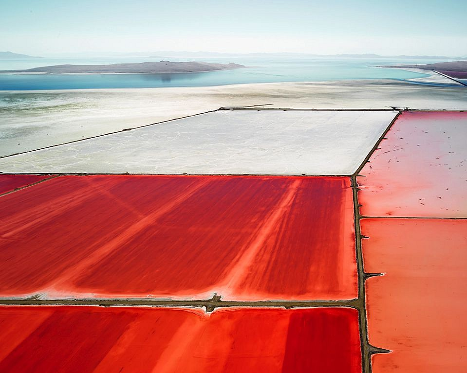 David Burdeny ,   Saltern Study 07, Great Salt Lake, UT  ,  2015     Archival pigment print ,  54