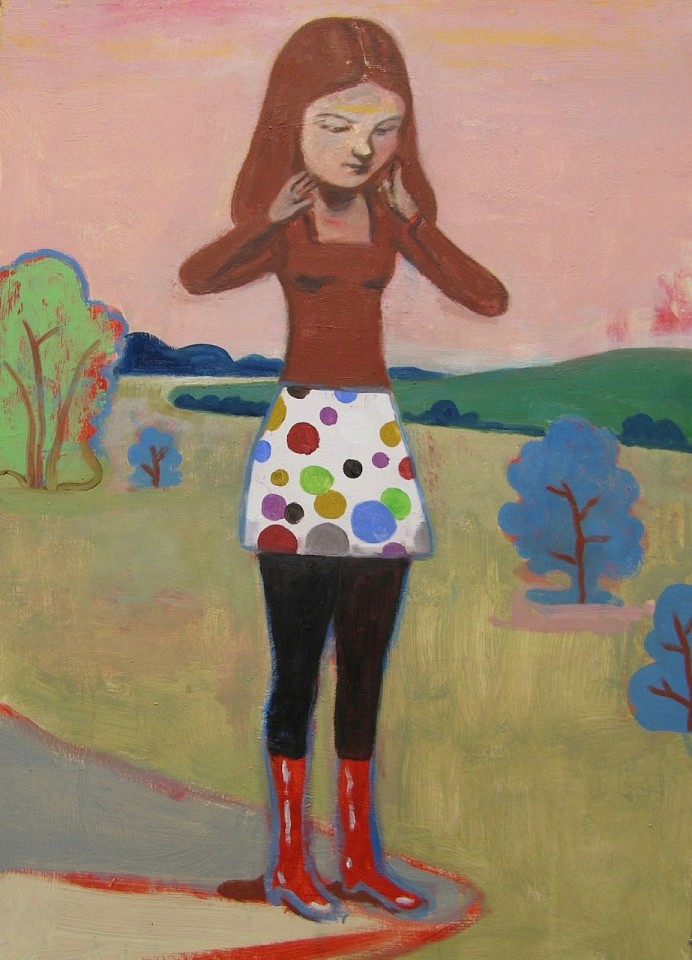 Stephanus Heidacker ,   Girl with Pretty Skirt  ,  2013     27 1/2 x 19 1/2 in.     STEPH - 341     Price Upon Request