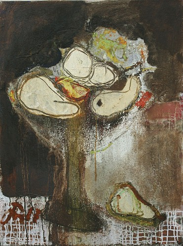 Exhibition: Serhiy Hai - New Paintings, Work: Abstract Still Life with Fruit, 2017