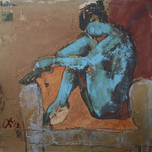 Exhibition: Serhiy Hai - New Paintings, Work: Blue Nude, 2019