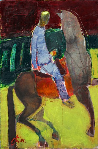 <i>Man and Horse in Field</i>, 2019