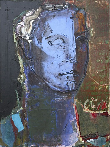 Exhibition: Serhiy Hai - New Paintings, Work: Classical Blue Head, 2019