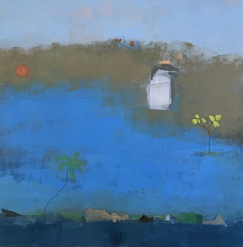 Exhibition: Helen DeRamus: New Paintings, Work: Island Riddle, 2019