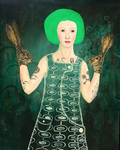 Anne Siems - Green Hair, 2019