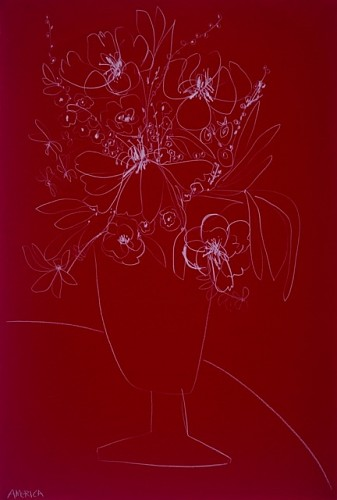 <i>Flowers on Red Paper</i>, 2019