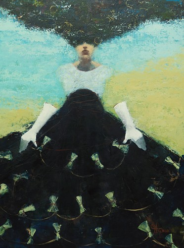 Cathy Hegman - Fashionista Black Skirt, 2019