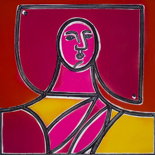 Exhibition: America Martin Solo-Show, Work: Woman in Yellow and Pink, 2020