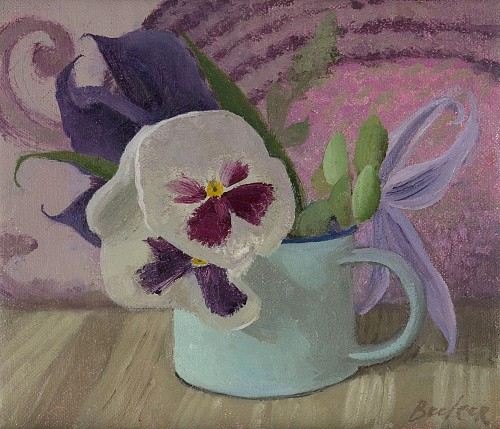 Haidee Becker - Two Pansies, Two Clematis, 2019