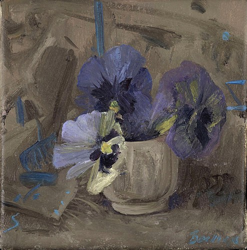 Haidee Becker - Pansies in Egg Cup, 2019