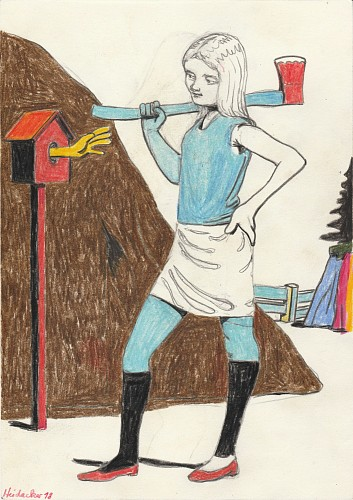 <i>Woman with Axe</i>, 2018