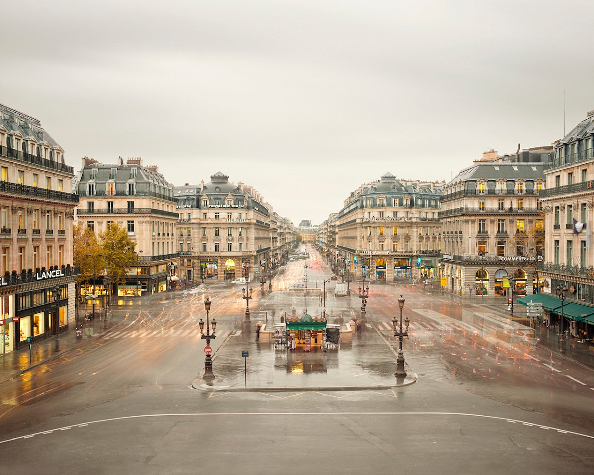 David Burdeny ,   Place de Opera, Paris, France  ,  2012     Archival pigment print ,  44